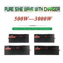 Чистая Синусоидальная волна инвертор с зарядным устройством DC12V/24 V/48 V/60 V к переменному току 110 V/120 V/220 V/230 V/240 конвертер инструмент для дома/лодка/на солнечной батарее