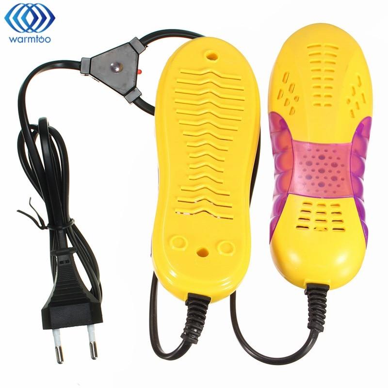 Schuhtrockner Fußschutz Boot Geruch Deodorant Gerät Schuhe Trockner Heizung 220 V 10 Watt Eu-stecker Rennwagen Form Voilet Licht