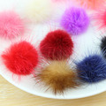 100pcs 3cm Charm Fluffy mix color mink fur pom pom balls accessories Free shipping