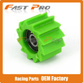Green Chain Roller Tensioner Pulley Wheel Guide For KX250F KX450F 06-16 Dirt Bike Off Road Motorcross Motorcycle