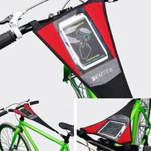 Крытая велосипедная тренировочная рама, защита от пота, сетка, ловушка, поглощает спортивный ремешок с держателем для телефона, черный, красный цвет, 58x23 см