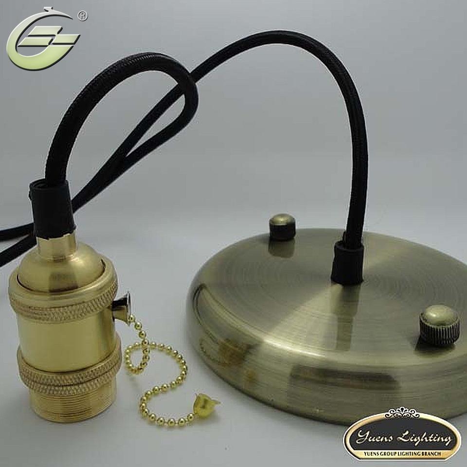 E26/E27 Bronze vintage pendant lamp holder kit diy accessories copper lamp holder+wire+ base,Free Shipping брюки sela брюки