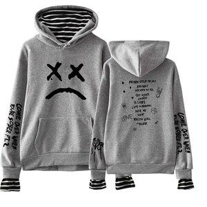 Image 4 - 2019 Sweatshirts Lil Peep Fake Two Pieces Hoodies Autumn Men/Women Sweatshirts custom Harajuku Matching Hoodies For Couples
