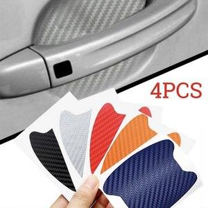 Image 2 - 4pcs/lot Anti Scratch Car Sticker Carbon Fiber Door Paint Protector Auto Handle Vinyl Car Decals Car Styling Accessories