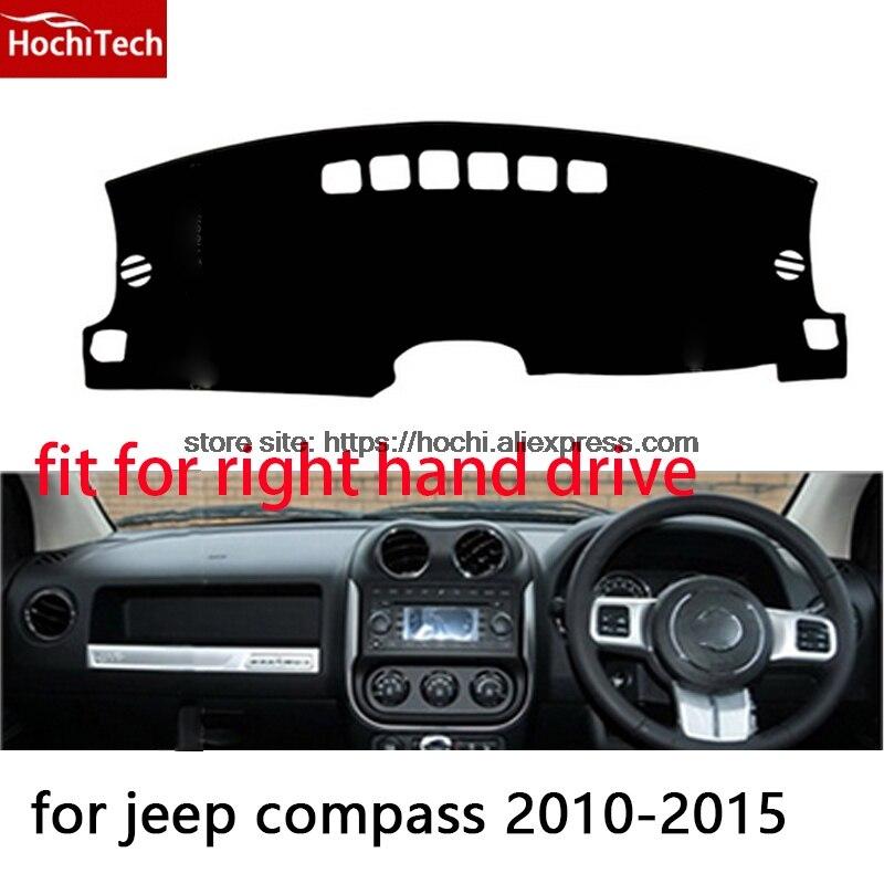 Для jeep Compass 10-15 правым приборной панели коврик защитная накладка черный красный автомобиль-Стайлинг интерьер ремонт стикер мат продукты