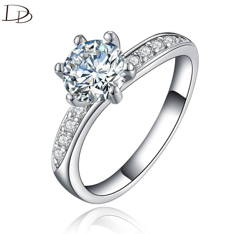 elegáns AAA strasszos gyűrű női évjárathoz 925 sterling ezüst esküvői eljegyzési gyűrűk divat ékszerek Bague bijoux ajándékok dd061