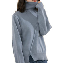 Litvriyh winter thicken cashmere sweater women pullover long sleeve high neck loose female knitted jumper