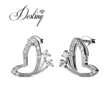 Destiny Jewellry sweet heart earring embellished with crystal from Swarovski DE0381(China)