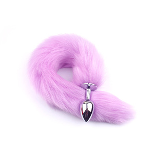 Image 2 - Feather Fox Tail Metal Anal Plug Erotic Accessories Anus Toy Butt Plug Sex Toy For Woman And Men Sexy Butt Plug Adult Accessorie