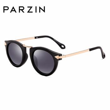 PARZIN Brand Quality Children Sunglasses Girls Round Real HD Polarized Sunglasses Boys Glasses Anti-UV400 Summer Eyewear D2005