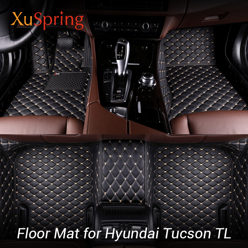 Car Interior Floor Mat Pad Cover Foot Cushion Protective Case For Hyundai Tucson TL 2015 2019 3TH LHD-in Interior Mouldings from Automobiles & Motorcycles    1