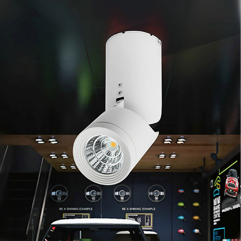 ФОТО Wholesale 10W/15W/20W COB LED Track Light Spot Wall Lamp Spotlight Tracking LED AC110V/AC220V-240V Noverty light New Arrival