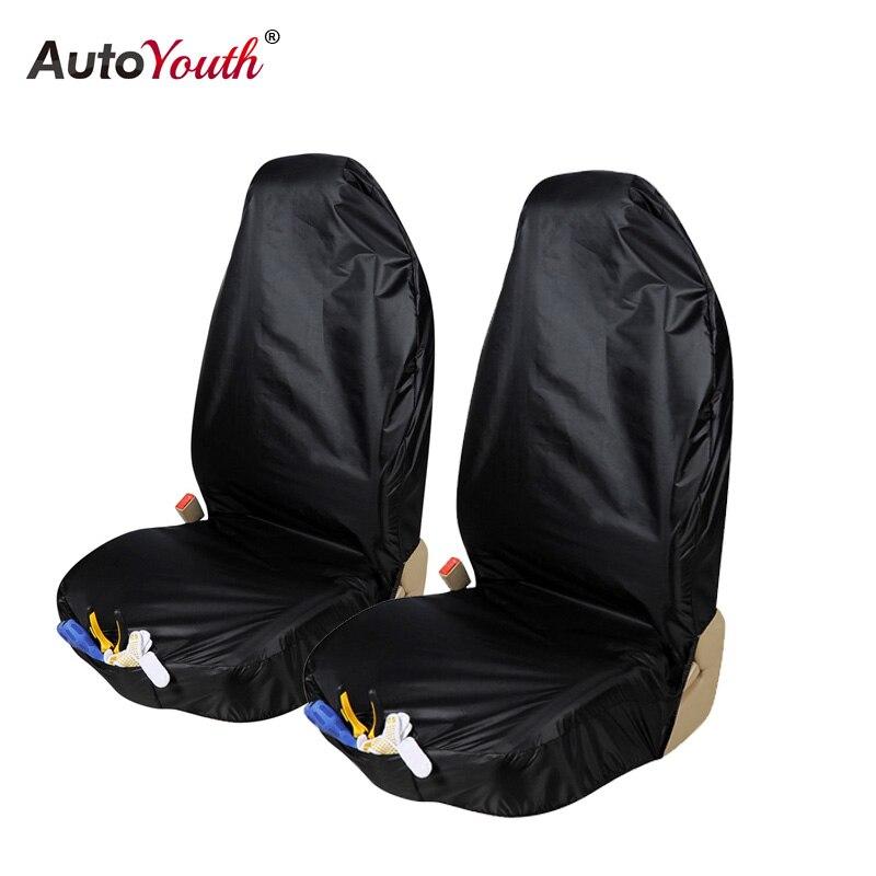 AUTOYOUTH Impermeabile Car Seat Cover 2 PZ Seggiolino Anteriore Protector Con Il Sacchetto Dell'organizzatore Universale Accessori Auto Interni