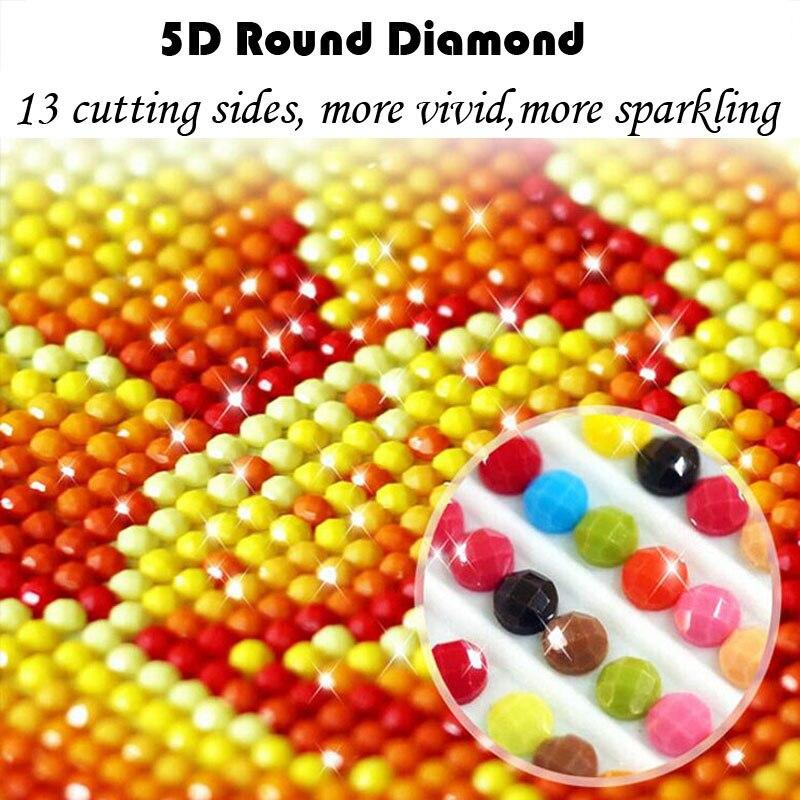 5D DIY Ρολόι Diamond Ζωγραφική Πλήρης Γύρος - Τέχνες, βιοτεχνίες και ράψιμο - Φωτογραφία 4