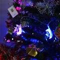 4 M 20 LEDS de estrellas y luna AC110V EE.UU. enchufe 220 V UE enchufe A Prueba de agua Luz LED de Cadena Luces De Navidad para el Partido Decoración de La Boda