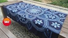 Japanese Shibori Tie dye Gorgeous adornment Arts / Unique Large Handmade Kanoko Table Cloth Many Uses