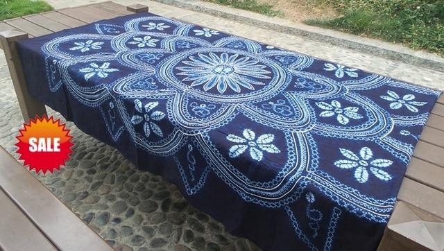 Japanese Shibori Tie Dye Gorgeous Hand Painting / Unique Large Handmade  Kanoko Table Cloth Wall Artwork