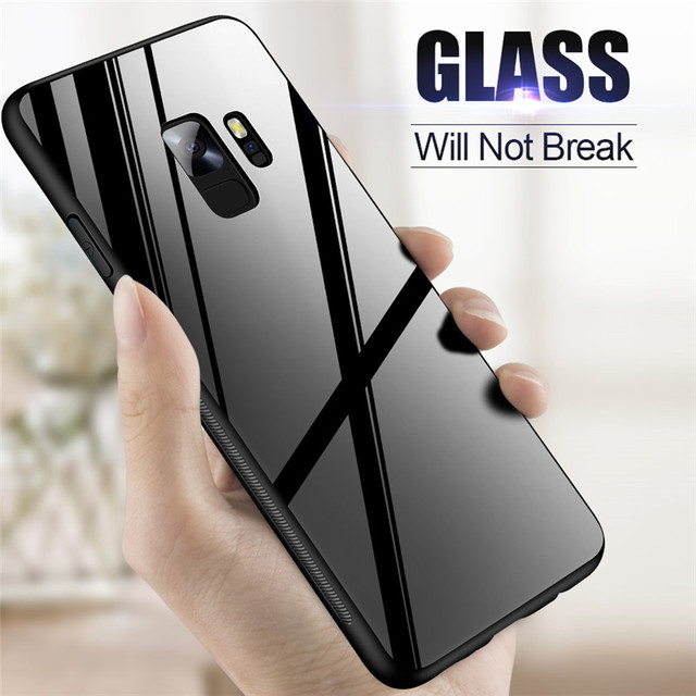 best sneakers 368c4 93154 US $3.19 20% OFF|ZNP Luxury Back Glass Cover Case For Samsung Galaxy S9 S8  Plus Tempered Glass Phone Cases For Samsung Note 8 S7 Edge S8 S9 Case-in ...
