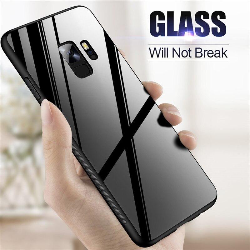 2019 Neuestes Design Znp Luxus Zurück Glas Abdeckung Fall Für Samsung Galaxy S9 S8 Plus Gehärtetem Glas Telefon Fällen Für Samsung Note 8 S7 Rand S8 S9 Fall