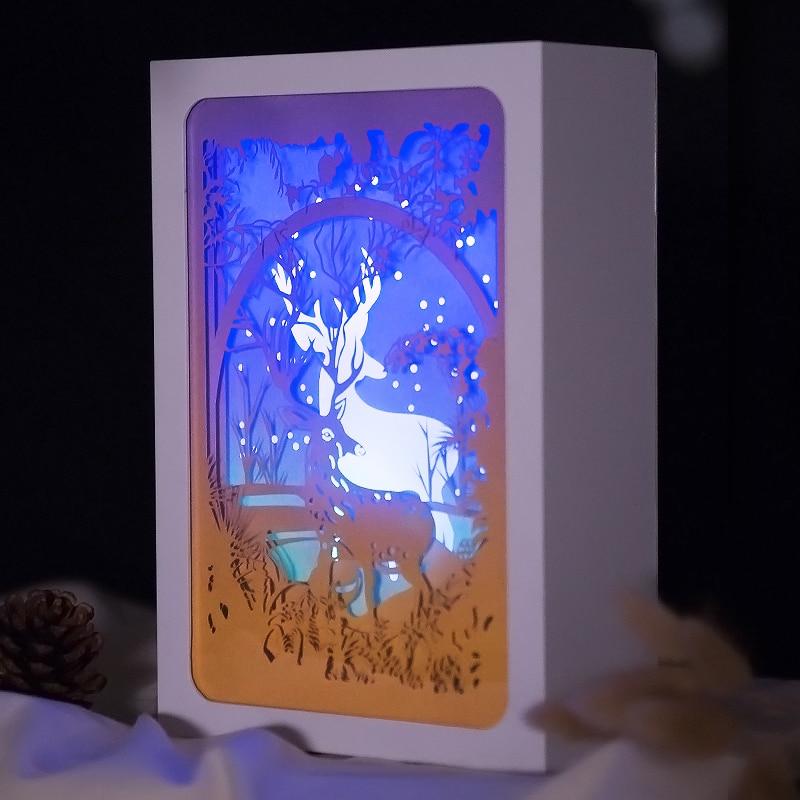 Present till vän och barn ljus skuggpapper snidade ljus DIY kreativ - Semester och fester - Foto 3