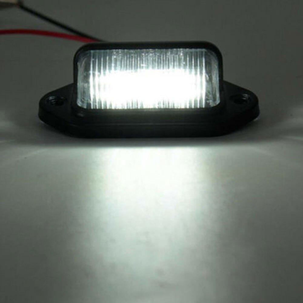 Vehemo номерной знак светильник 6 светодиодный задний фонарь номерной знак светильник светодиодный универсальный для автомобиля прицепа грузовика автобуса грузовика