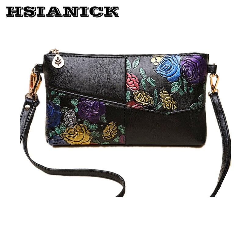 Handbag female 2019 new flower design fashion clutch bag single shoulder mobile phone messenger handbag