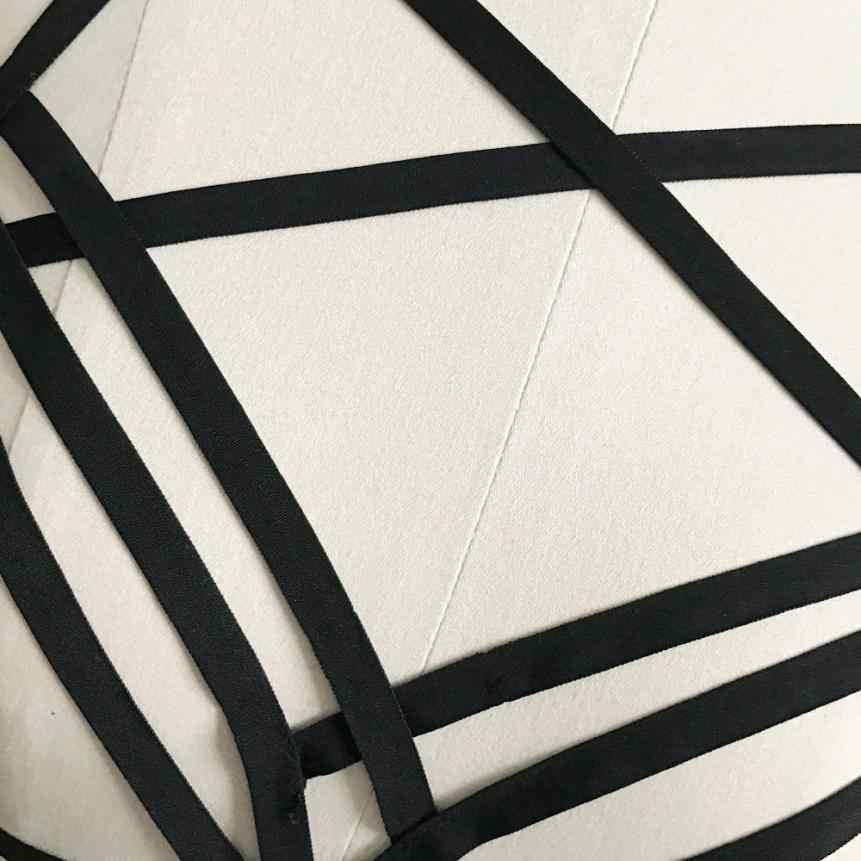 Sexy gotico Crop Magliette e camicette Cinghia Delle Donne Crop Top Hollow Elastico Cage Bra Fasciatura Strappy Halter Reggiseno Bustier Magliette e camicette Harness Crop magliette e camicette 2020