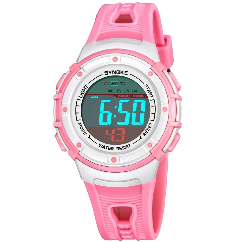 New Clock Sport Kids Girl Boy Watch LED Digital Stopwatch Alarm 50M Water Resistant Children Wrist Watches montre enfant
