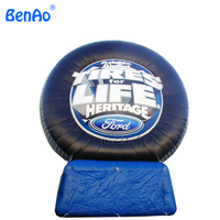 Z145 Most Popular Advertising Inflatable Tire Model Inflatable Tire Balloon To Increase Tire With Air Blower