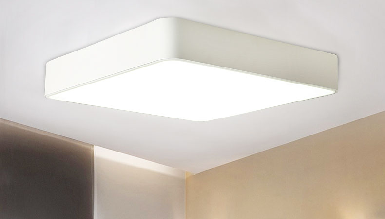 Badkamer Plafondlamp Led : Moderne vierkante led paneel opbouw plafondlamp wit zwart badkamer