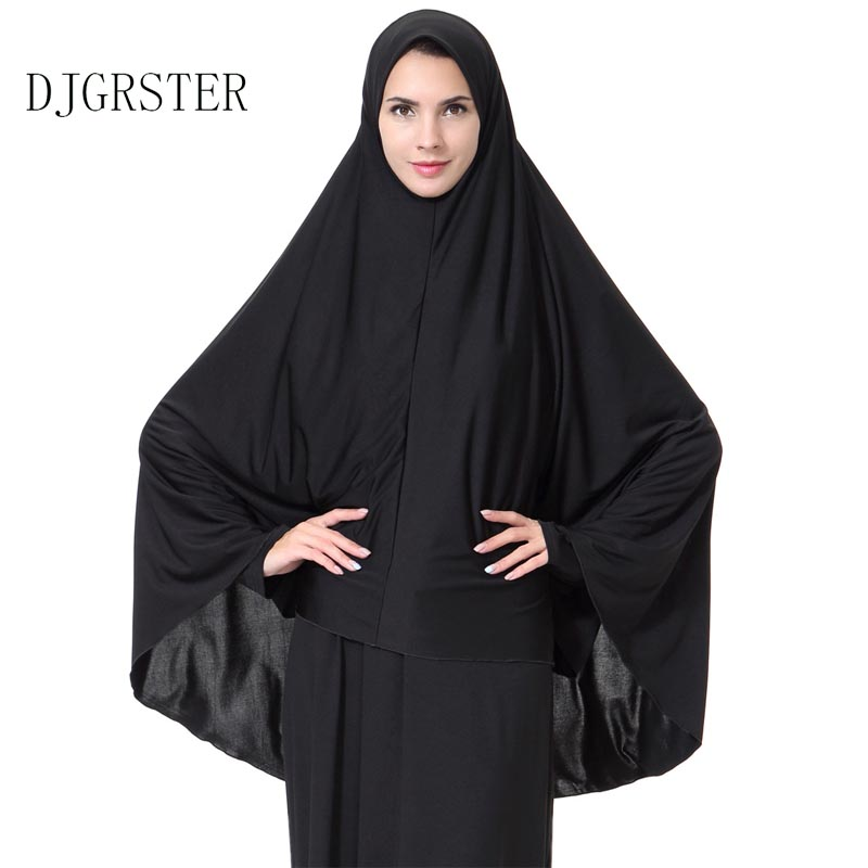 DJGRSTER Muslim Hijab Jersey Scarf Women Head Coverings Femmes Turban Hijabs Gray Islamic Veil Stretch Bandana Fashion Plus Size