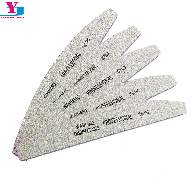 5Pcs/Lot Nail File 100/180 Sanding Buffer Block Pedicure Manicure Buffing Polish Beauty Tools Professional Nail Files Grey Boat 5pcs lot 6400401 professional pedicure tools
