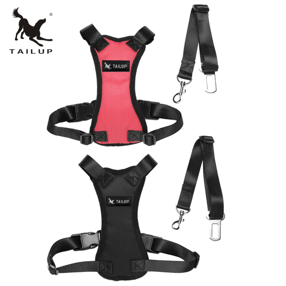 TAILUP Pet Car Safety Chest Pet Supplies Wholesale Adjustable Safety Auto Car Seat Belt Dogs Harness Chest Straps Hot Sale
