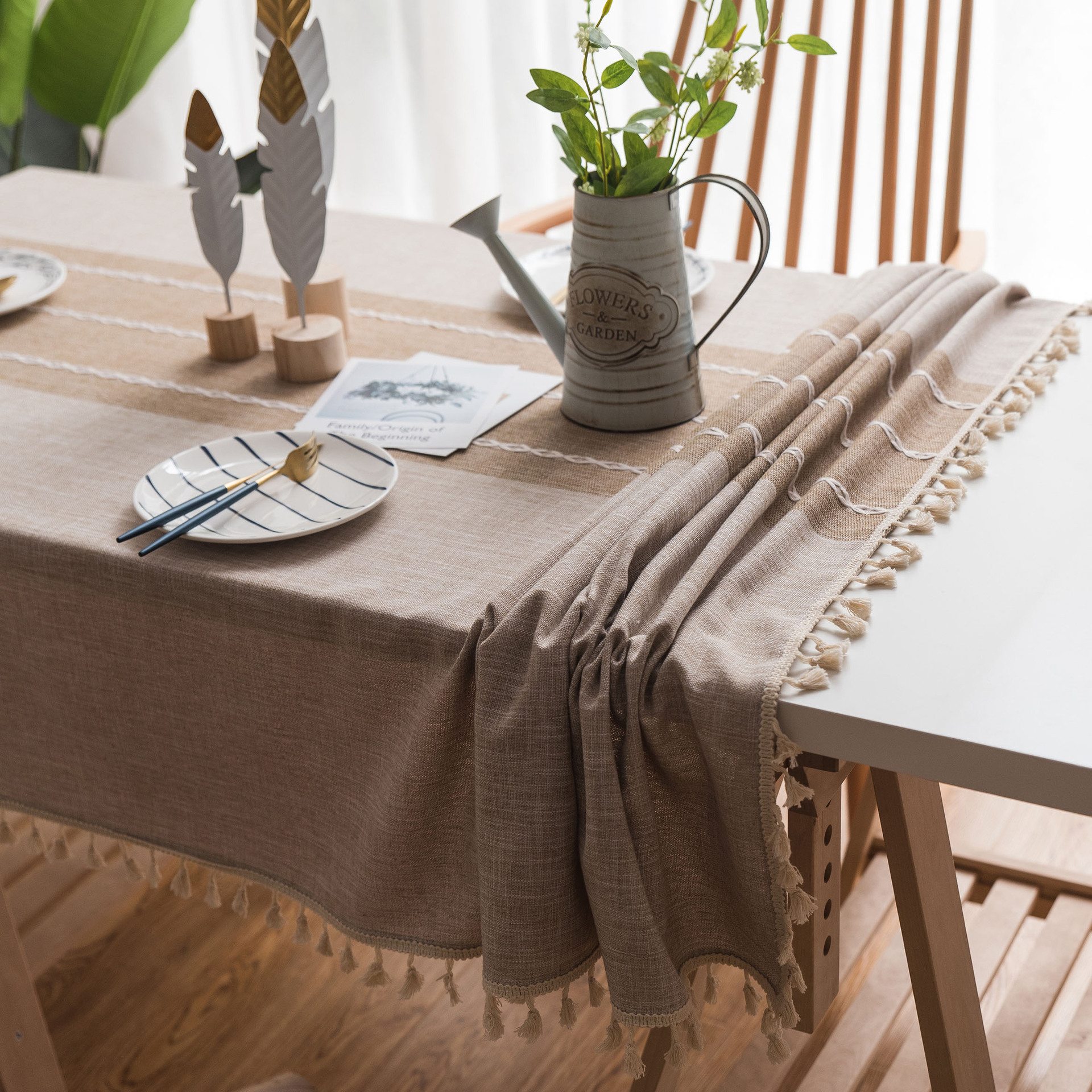Us 13 12 25 Off Runner Burlap Natural Jute Imitated Linen Rustic Decor Wedding Table Decoration Accessories Khaki Gray Party Tablecloth In