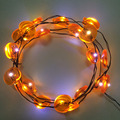 2M 20 LEDS 3AA Battery Powered Skeleton LED Neon Copper Wire Fairy String Lights Pumpkin Lamps Halloween Christmas Holiday Party