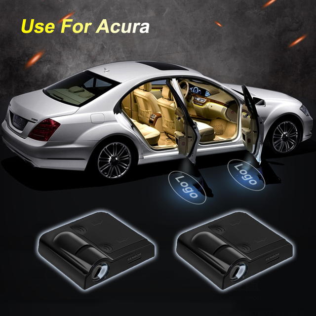 LED Wireless Car Door Logo Lights No Drill Type Badge For Acura Led - Acura badge