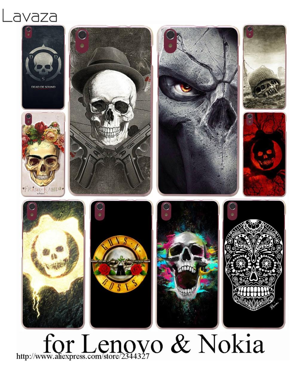 Lavaza Dead De Sound Skull Hard Case for Lenovo K6 note A328 A536 A1000 A2010 A5000 S850 ...