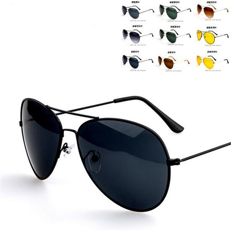 2017 New Summer Women's Men's Classic Aviator Silver Mirrored Lens Brown Gold Black Sunglasses Fashion Accessory Free Shipping