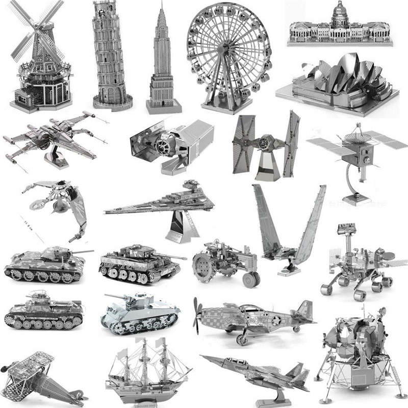 3D Metal Puzzle High quality MIni Fighter Robot Series DIY Laser Cut Puzzles Jigsaw Model For