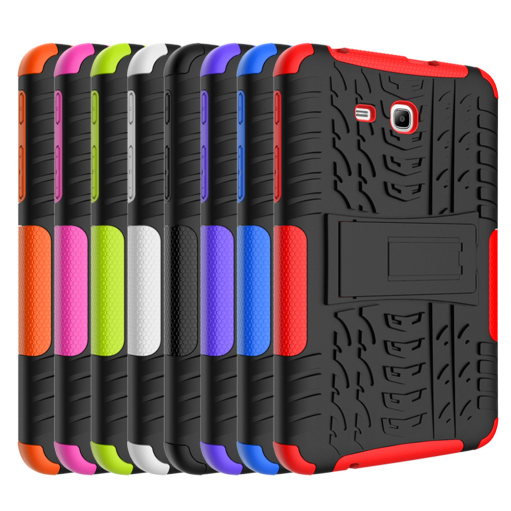 For Samsung Galaxy Tab 3 Lite 7.0 Case Shockproof Dazzle Grain 2 In1 Protection Cover For Samsung Galaxy Tab 3 Lite T110 T116