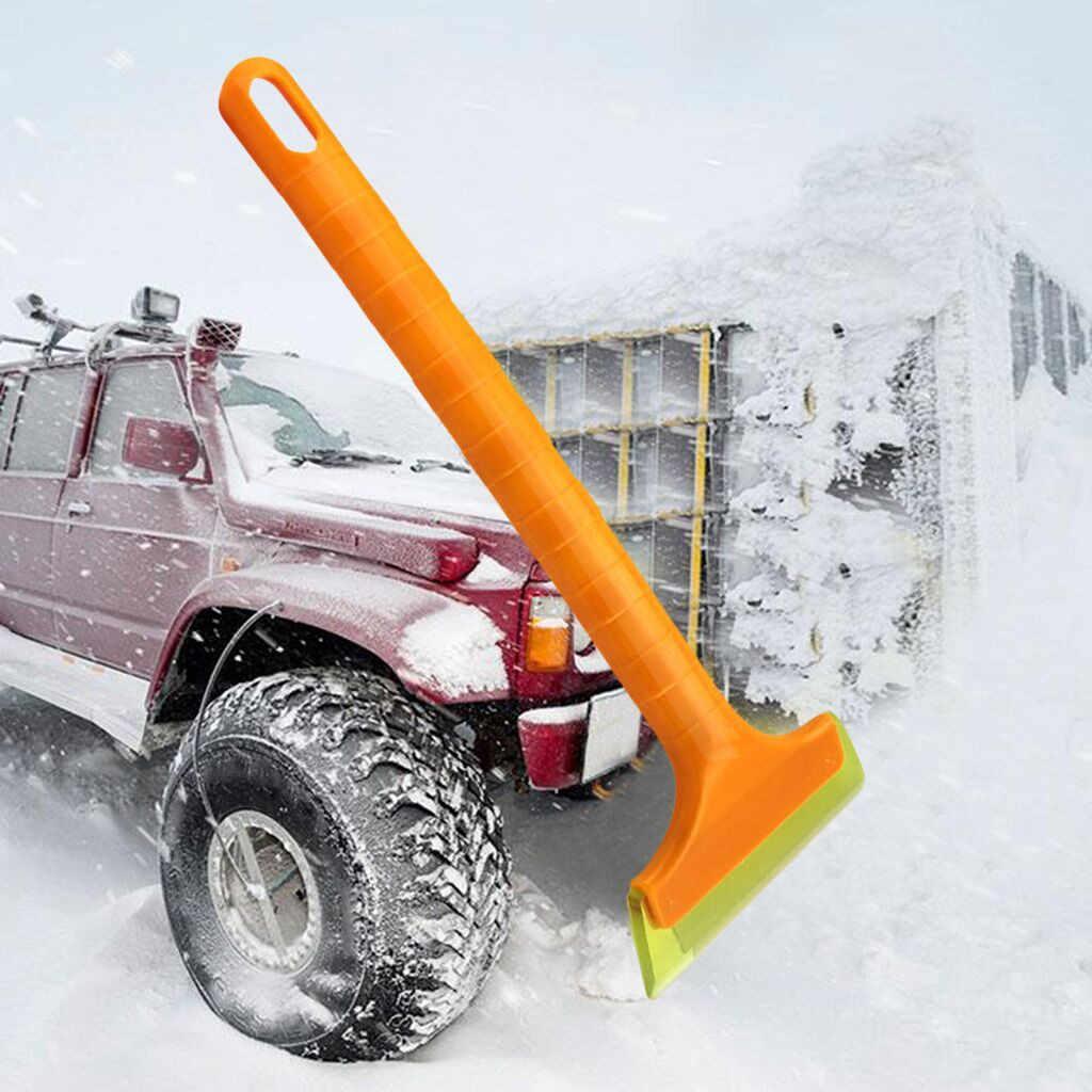 Kongyide Es Scraper Serbaguna Batang Panjang Deicing Es Menyapu Alat Kaca Depan Mobil Salju Alat untuk Mobil Musim Dingin Jly10