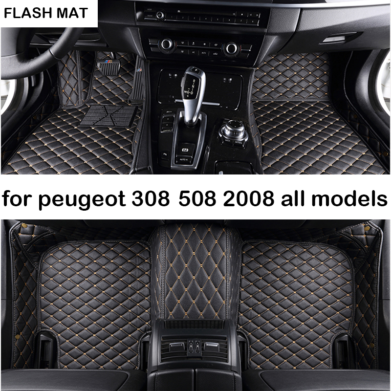 car floor mats for peugeot 308 peugeot 508 206 207 301 307 sw 407 408 2008 4008 5008 auto accessories car mats стоимость