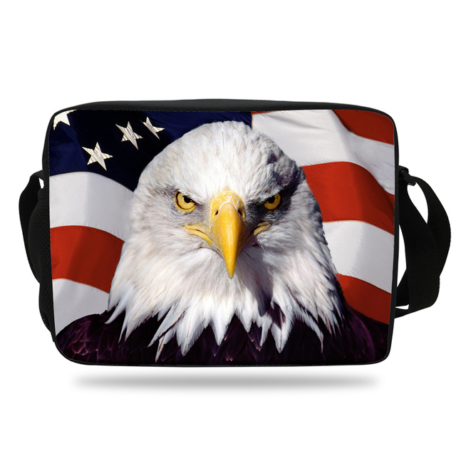 2018 New Style Boys Messenger Bag Birds Animal Eagle School For S Shoulder Hawk