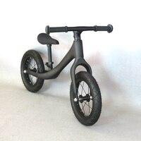 Дети углеродистая колесо баланс велосипед Скутер 12 дюймов ходунки Портативный велосипед без педаль детский велосипед углерода Walker для вер