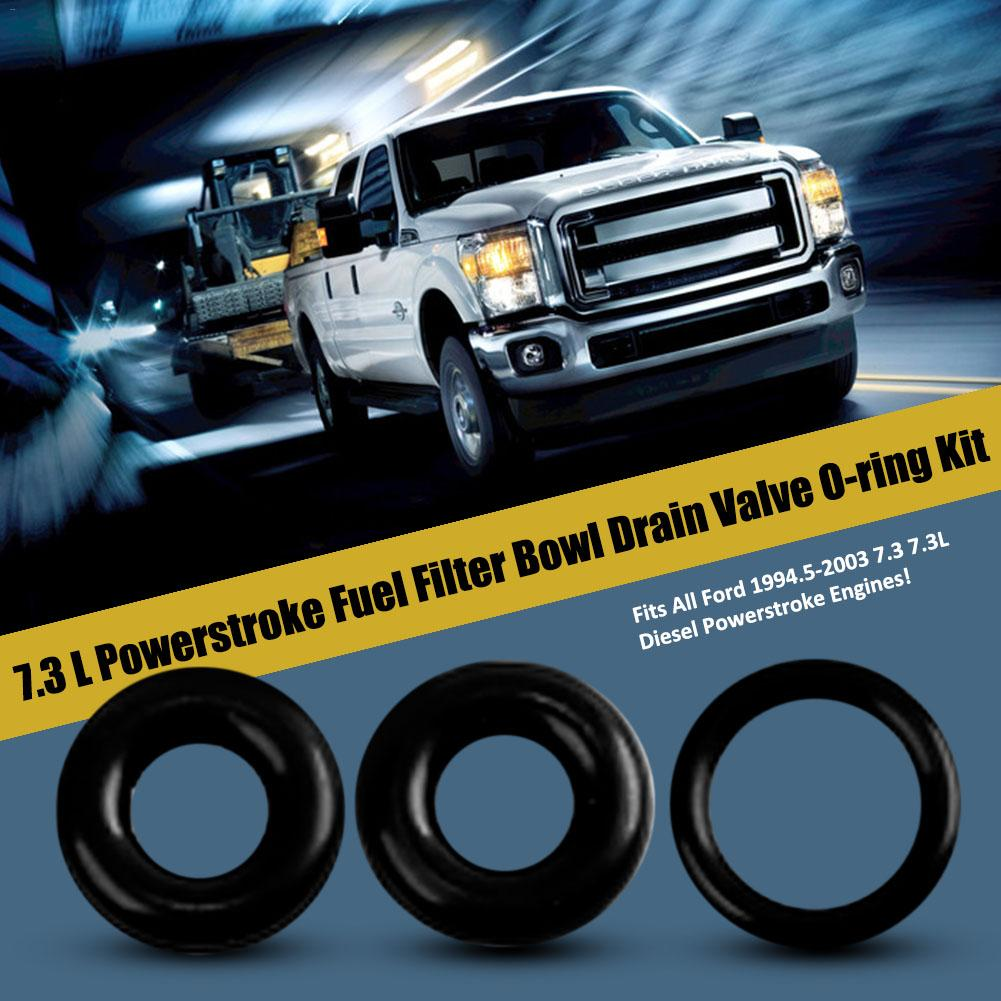 powerstroke fuel filter bowl drain valve viton o ring seal kit fits all ford 1994 5 2003 7 3 7 3l diesel powerstroke engines in seals from automobiles  [ 1001 x 1001 Pixel ]