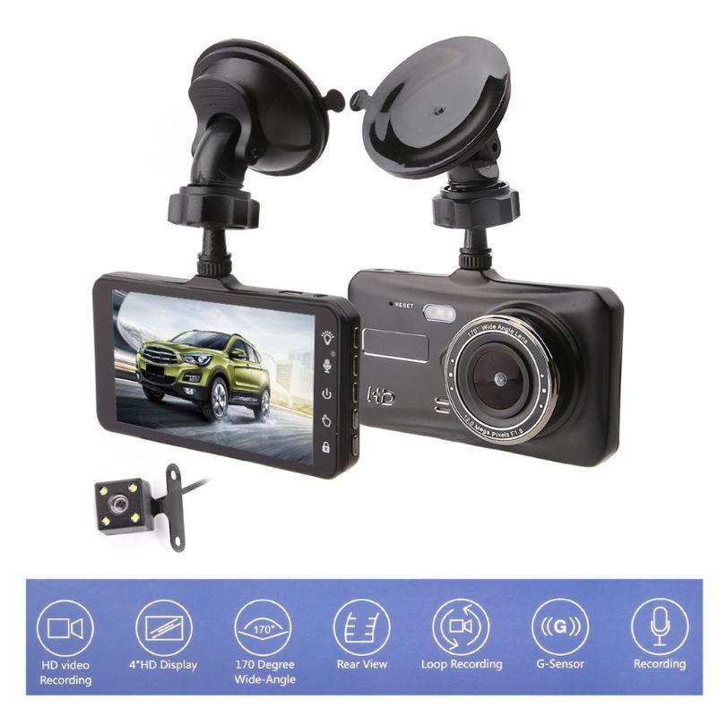 Accessoires de voiture double lentille voiture DVR véhicule caméra Full HD 1080 P 4