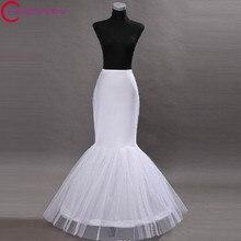 2016 Wedding Dress Mermaid Petticoat Anagua Jupon 1 hoop Crinoline Enaguas Cerceau Mariage Saiote Hoop Skirt Tulle Accessories