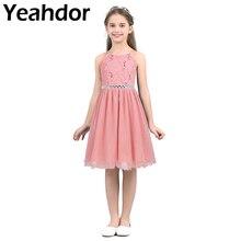נצנצים פרח בנות שמלה ללא שרוולים פרחוני תחרה מבריק טול קיץ חתונה בנות מסיבת יום הולדת שמלה