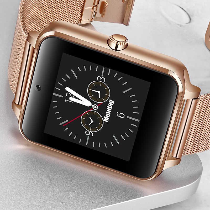 Ini Smart Watch Pria Wanita Digital Elektronik Watch Stainless Steel Sport Tahan Air Watch Mendukung SIM TF Card untuk Ponsel Android