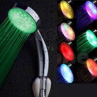 جديد ملون LED إضاءة أرضية من الاستانليس ستيل مستدير المطر الحمام دش-في مرطبات من الأجهزة المنزلية على